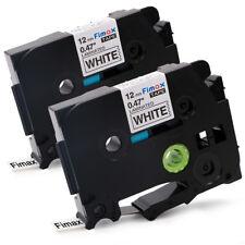 2x CASSETTA NASTRO VHBW per Brother P-Touch TZ-231, TZE-231 12mm 8m PT-900