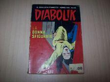 DIABOLIK PRIMA SERIE ORIGINALE INEDITO-ANNO VIII 8° N.23-LA DONNA SFIGURATA-1969