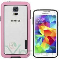 Pellicola+BUMPER Rosa per Samsung Galaxy S5 SV SM-G900F cover custodia nuovo