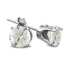 2/5 Ct Round Diamond 14K White Gold Earrings, J-K, I3