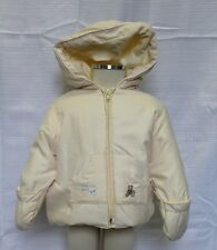 JACADI Girls Sens Vanilla Polyester Teddy Bear Winter Coat Size 3 Months NWT $68