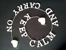 KEEP CALM AND CARRY ON Wooden Letter Garland in a Shabby Vintage Chic Style