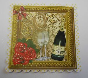 PK 2 HAPPY 50TH WEDDING ANNIVERSARY EMBELLISHMENT TOPPERS FOR CARDS OR CRAFTS