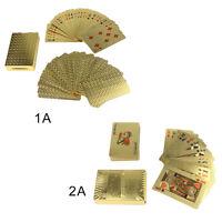 24K Golden Card Gold Plat Playing Cards Full Per Deck International Standard
