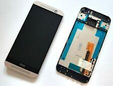 NEU Service-Pack - Display Digitizer Rahmen für HTC One M9 silber LCD komplett