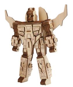 3D wooden puzzle Robot 3 Transformer DIY Laser Cut Jigsaw Wooden 3D Model