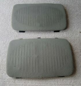 1995-1999 Chevrolet Suburban Tahoe GMC Yukon Rear Cloth Speaker Covers OEM Gray