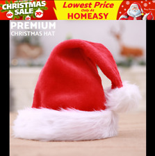 751d6cbea3029 3x 61g Santa Red Plush Christmas Xmas Hat Cap Adult Holiday Costume Headgear