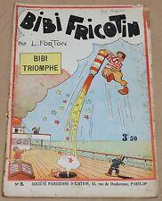 BIBI FRICOTIN -5- / Bibi triomphe / RE 1935 / BE