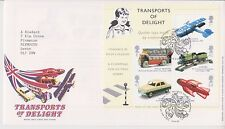 GB ROYAL MAIL FDC 2003 TRANSPORTS OF DELIGHT STAMP MINIATURE SHEET TALLENTS PMK