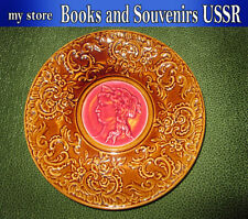 1890's Antiquarian Russia, porcelain plate with portrait of a girl, ORIGINAL.