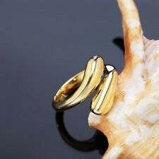 Girl Jewelry Open Adjustable Water Drop Ring Gold Knuckle Finger