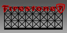 "FIRESTONE ANIMATED LIGHTED NEON SIGN-HO-SCALE-BLINKS-FLASHES+MORE 3.50""W X 1.5""T"