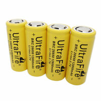 4 X 26650 Li-ion Battery 12800mAh 3.7V Rechargeable for LED Flashlight Headlamp