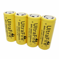 4 X 26650 Li-ion Battery 12800mAh 3.7V Rechargeable for LED Flashlight Headlamp