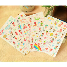6 sheet my Little red riding hood calendar diary planner Scrapbooking stickers