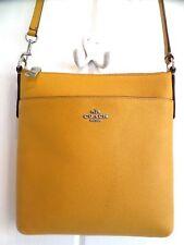 Coach 52348 Flax Yellow Crossgrain Leather Crossbody Shoulder Bag