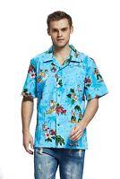 Hawaii Hangover Men's Hawaiian Shirt Aloha Shirt Christmas Santa Turquoise