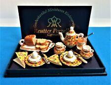 Dollhouse Miniature Reutter Porcelain German Breakfast Set 1:12 Scale