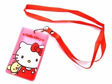 HELLO KITTY LANYARD red/pink kawaii children's neck strap ID tag badge Y2