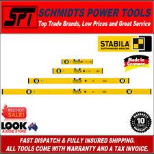 STABILA SPIRIT LEVEL SET 4 PIECE ALUMINIUM 300 600 1200mm & 2.0m TYPE 70 & 70-2