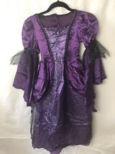 Witch Costume Girls Size  6-7 Purple And Black