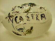Antique Translucent Hand Blown Milk Glass Easter Egg