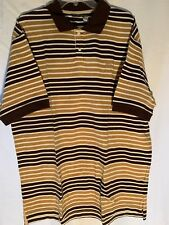 "Rocawear Mens Polo Short Sleeve Shirt Large Embroidered ""R"" Multi-color Striped"