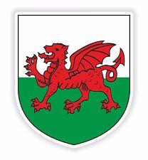 Adhesivo 1x Escudo de Armas Gales para Tablet PC Locker Casco Sombrero duro Puerta Nevera