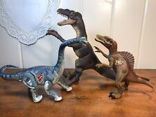 Vintage Jurassic Park 3 Posable Velociraptor Brachiosaurus & Spinosaurus Rare