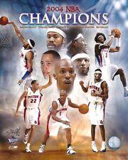 2004 NBA FINALS 8x10 TEAM PHOTO Chauncey/Rip/Ben/Rasheed DETROIT PISTONS CHAMPS