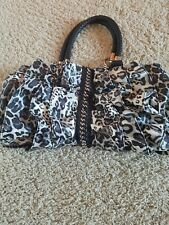 Womens Bebe Handbag, black and white, medium size purse, great condition!