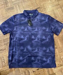 PGA Tour Navy Tie Dye Polo, NWT, XXL
