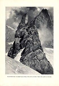 Schutzhütte Clocher de Bertol XL Kunstdruck 1904 Walliser Alpen Arolla Platz +