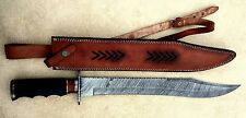 23.00 INCHES Damascus Steel Custom Handmade  ROSE WOOD and MICARTA HANDLE SWORD