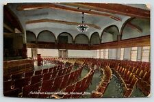 Moorhead Minnesota~Concordia College Auditorium Interior~Piano Front~1909