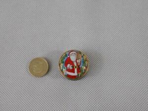 Halcyon Days Enamel Trinket Box.Santa Claus,Christmas,Motif.