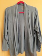 L.L. Bean light blue open front cardigan  With Adjustable Sleeves Size XL Petite