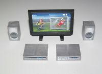 Playmobil Lot Accessoire Equipement Salon TV Eran Plat + Enceinte + Lecteur NEW