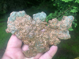 B38 Copper Nugget, metal detector find, ore, crystal, cleaned but 100% natural