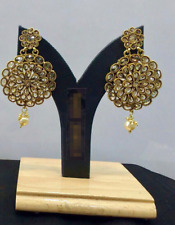 Bollywood Women Fashion Gold Plated Party Wedding Ethnic Jewelry Earrings Set