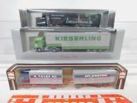 CA299-0,5# 3x Herpa 1:87/H0 LKW Mercedes: 811330+Kieserling+Freiburg, NEUW+OVP