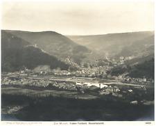 Die Mosel, Traben-Trarbach, Gesamtansicht Vintage silver print  Tirage argenti