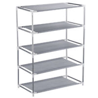 5-Tier Shoe Rack Shoes Shelf Organizer Holder Storage Easy Assemble Space Saving