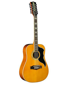 Eko Ranger 12 Dreadnought Vintage Reissue Natural Spruce Top Acoustic Guitar New