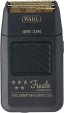 Wahl 5 STAR FINALE Black Rechargeable Shaver, 5-Pieces 55599