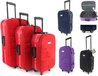 Super Lightweight Set of 3 Single Suitcase Travel Luggage case Cabin Bag Trolley