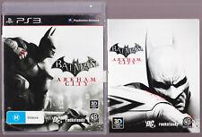 LIKE NEW Batman: Arkham City W MANUAL Playstation 3 PS3 Game