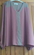 ladies size 22 pink shirt top with lace back