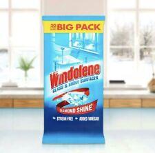 Windolene Glass & Shiny Surfaces Streak-free Window Wipes Pack